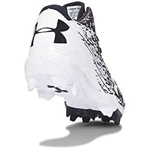 Under Armour Boys' Boys' Leadoff Mid RM Jr, Black/White, 1.5 M US Little Kid