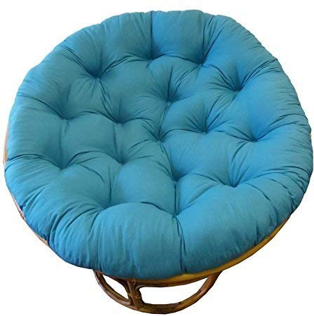Cotton Craft Papasan Teal - Overstuffed Chair Cushion, Sink into Our Thick Comfortable and Oversized Papasan, Pure 100% Cotton Duck Fabric, Fits Standard 45 inch Round Chair - Chair not Included (1 Sale Pier Pillow)