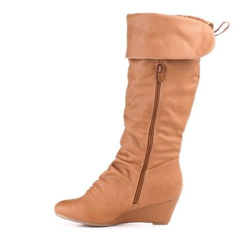 Damen Schuhe, STIEFEL, WARM GEFÜTTERT, KG4659, Synthetik in hochwertiger Leder Optik, Camel, Gr 39