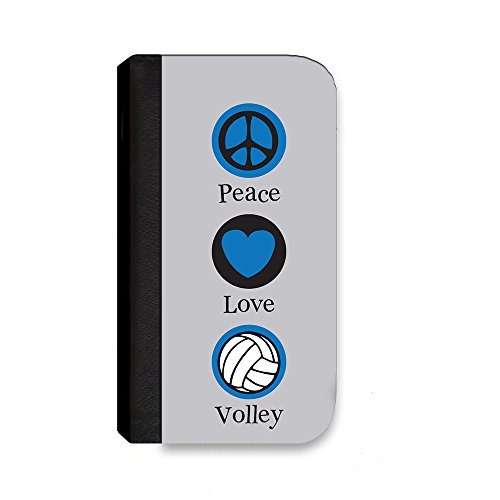 Insomniac Arts - Peace Love and Volleyball - Samsung Galaxy Note 3 Cover, Cell Phone Case, Wallet