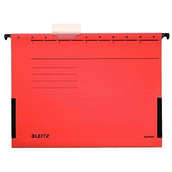 Leitz Alpha A4 Rojo archivador colgante - Carpeta (A4, Rojo, 348 mm,