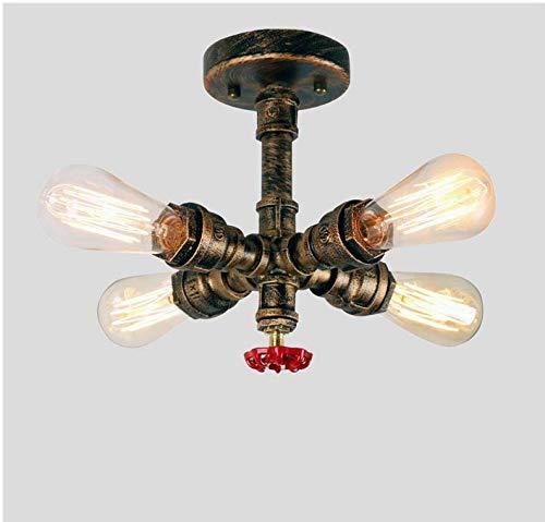 (Lightceiling Lamp 4 Heads Living Room Restaurant Lights Aisle Cafe Bars Industrial Lamps Diameter 22Cm Height 25Cm)