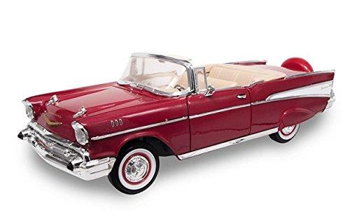 CHEVROLET BEL AIR 1957 rosso METALLIC 1 18 - Lucky Die Cast - Auto Stradali - Die Cast - Modellino