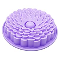 X-Haibei Crisantemo Pastel de cumpleaños Molde de silicona Bandeja superficial Pan Pizza Bandeja para hornear 8 pulgadas