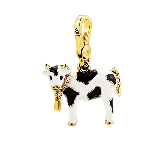 Juicy Couture White and Black Cow Charm
