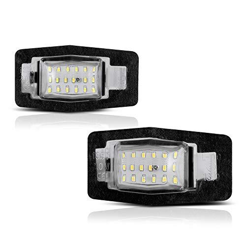 - VIPMOTOZ Full LED License Plate Light Lamp Assembly Replacement For Ford Escape Mercury Mariner Mazda Miata MX-5 Protégé MPV Tribute - 6000K Diamond White, 2-Pieces