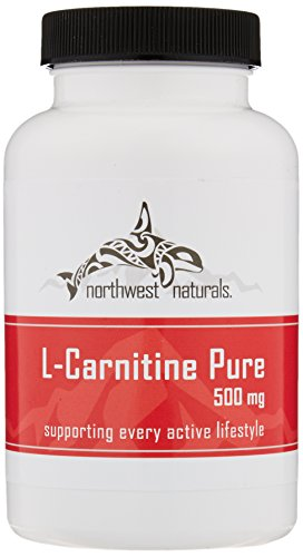 PacificNorthwest Naturals L-Carnitine Pure, Natural Mental Fatigue Fighter, Enhanced Recovery and Accepted Natural Fat Burning, 100 Capsules