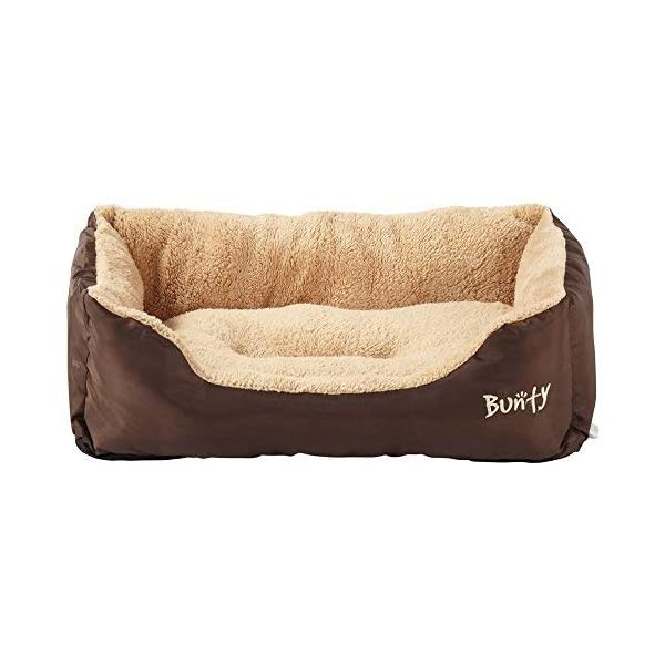 Bunty Deluxe Soft Washable Basket Bed Cushion with Fleece Lining for Dogs 2