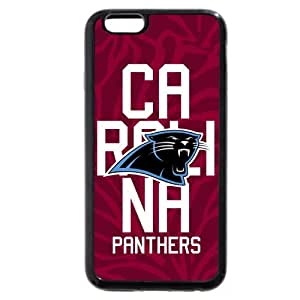 """Onelee Customized NFL Series Case for iPhone 6+ Plus 5.5"""", NFL Team Carolina Panthers Logo iPhone 6 Plus 5.5"""