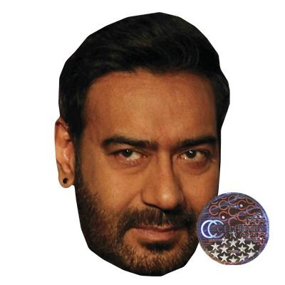 Ajay Devgan Celebrity Mask, Card Face and Fancy Dress Mask (All The Best Ajay Devgan)