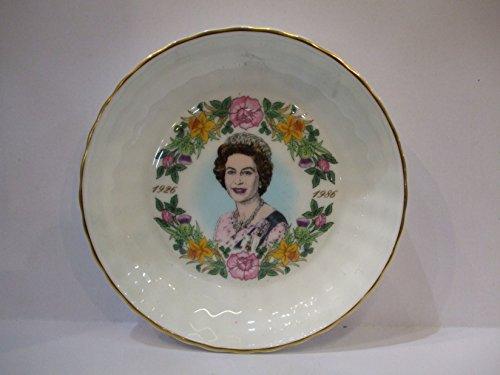 Coalport English Bone China COMMEMORATIVE Her Majesty Queen Elizabeth 11 60th Birthday 1926 - - Plates China Bone Coalport