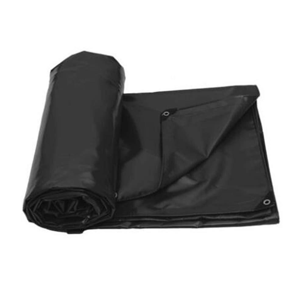 MUMA ターポリン PVC 厚い 耐寒性 日焼け止め シェード 防風 屋外 カスタマイズされた (色 : 黒, サイズ さいず : 6*5M) 6*5M 黒 B07K4NTKNK