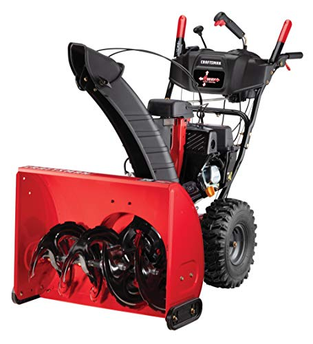 Craftsman 208cc Electric Start Two Stage Gas Powered Snow Blower with 26-Inch Clearing Width