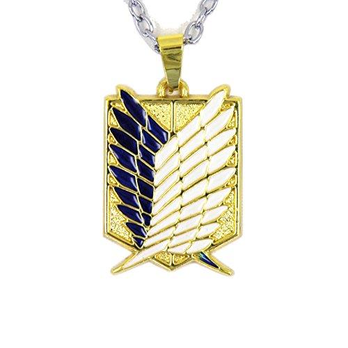 Attack on Titan Shingeki No Kyojin 4 Squads Emblems Necklace