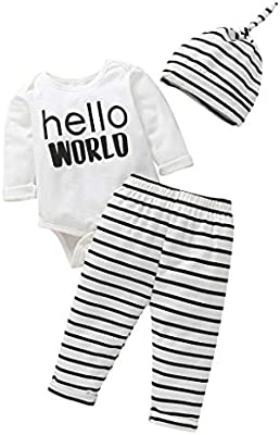 Winter Kid Baby Girl Bowknot Top Jumpsuit Romper Bodysuit Stripe Pants Warm Set