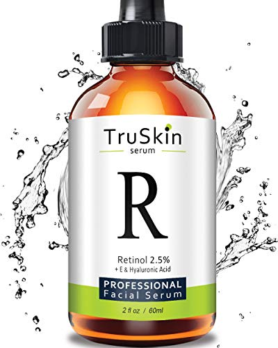 TruSkin RETINOL Serum for Wrinkles, Fine Lines - [BIG 2-OZ Bottle] - Vitamin A, E, Hyaluronic Acid, Organic Green Tea, Jojoba Oil, BEST Anti Wrinkle Facial Serum. 2oz (Best Vitamin A Skin Products)