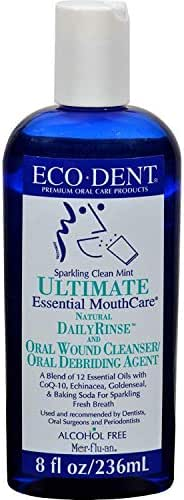 Eco Dent Sparkling Clean Mint Daily Mouth Rinse, 8 Ounce -- 6 per case.