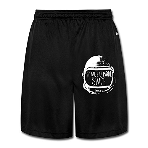 Price comparison product image YQUE56 Men's Ineed More Space Space Cap Shorts Workout Pants Color Black Size XL