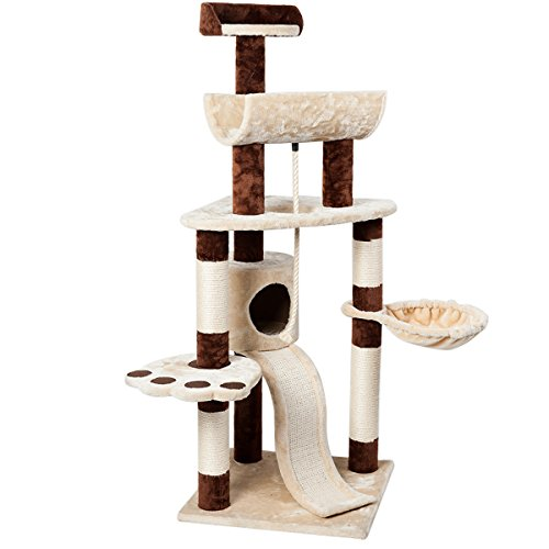 Favorite 57″ H 6-Tier Multi-function Condo Cat Activity Tree