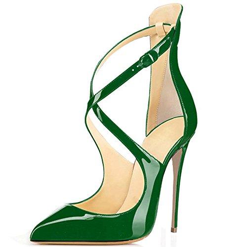 Trasversale Cinghia Donna Classiche Verde da Col Tacco Col Scarpe Talloni elashe Tacco Scarpe Scarpe w7HnB11q