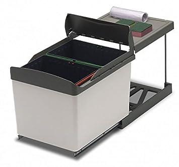 Sehr Amazon.de: Ausziehbarer Abfalleimer für Küche Unterschrank 2 Eimer  WY15