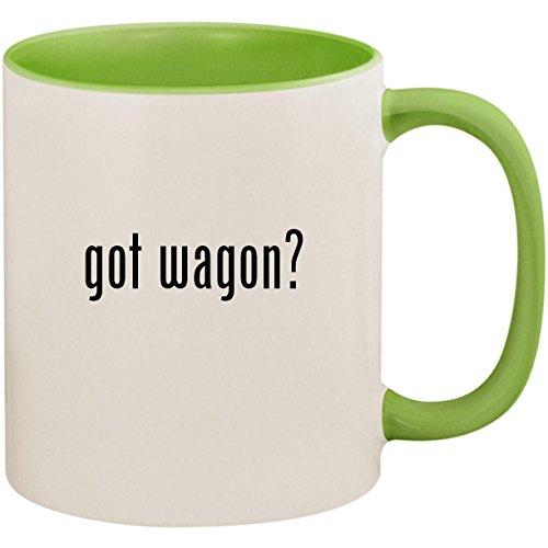 got wagon? - 11oz Ceramic Colored Inside and Handle Coffee Mug Cup, Light Green