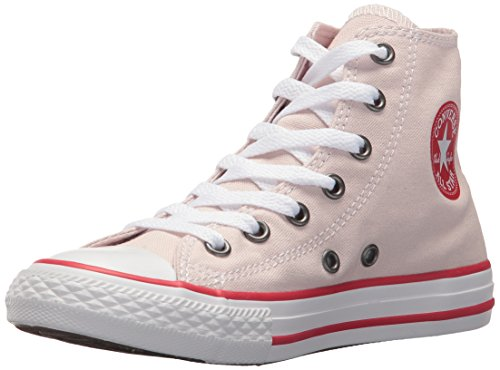 Converse Kids' Chuck Taylor All Star Seasonal Canvas High Top Sneaker, Barely Rose/Enamel Red/White, 13 M US Little Kid -