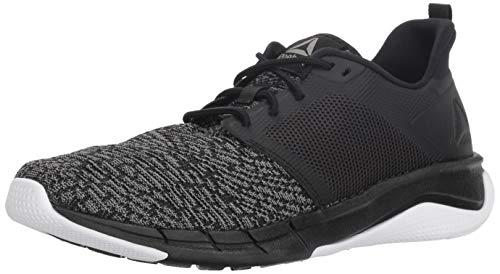 Reebok Women's Print Run 3.0 Shoe, Black/Foggy Grey/White, 8 M US