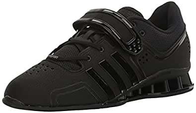 adidas Men's Shoes | Adipower Weightlift Cross-Trainer, Black/Night Metallic Metallic/Silver, (3.5 M US)