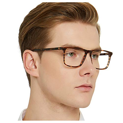 OCCI CHIARI Non Prescription Eyewear Frames Fashion Optical Acetate Eyeglasses with Clear Lenses (Brown) for Mens