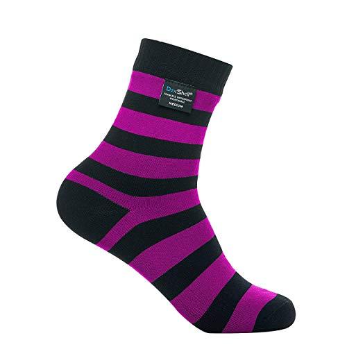(DexShell Waterproof Ultralite Bamboo Socks, Pink, Ankle, L)