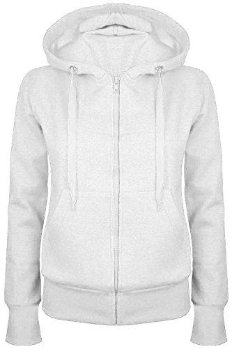 Star Fashion - Sudadera con capucha - para mujer blanco