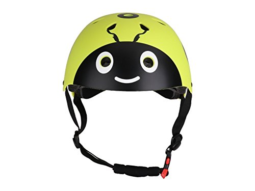 Yunqir Children Ladybug Helmet Cute Street Bike Helmet Cartoon Riding Helmet Skate Helmet(Yellow)