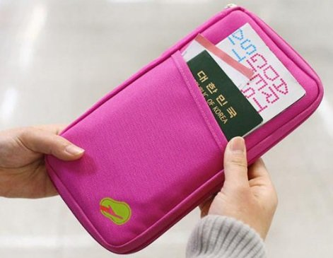 New Arrival Hot Selling Upgrade Promotion Fashion Travel Journey Passport Id Card Holder Case Wallet Rose