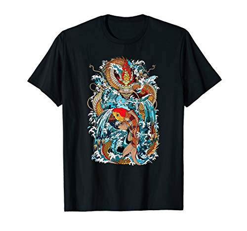 (Dragon vs Koi Fish Japanese Art)