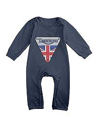Ellem Cute Triumph Motorcycles Logo Jumpsuit For Toddler Navy
