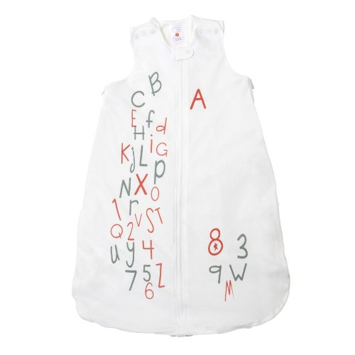Gunamuna Cotton Dreams Gunapod Wearable Baby Sleepsack, Alphabet Soup, Small from Gunamuna