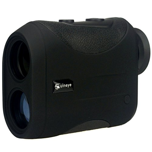 Golf Rangefinder - Range : 5-1312 Yards, +/- 0.33 Yard Accuracy, Laser Rangefinder with Height, Angle, Horizontal Distance Measurement Perfect for Hunting, Golf, Engineering Survey (Black)