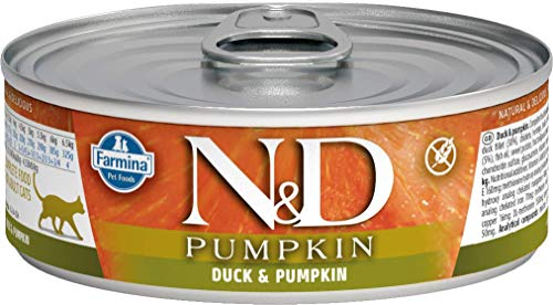 Farmina Natural & Delicious Pumpkin Feline Duck, Pumpkin & Cantaloupe Cans 12/2.8-oz
