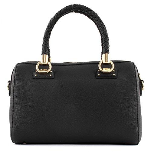 Liu Jo M Satchel Manhattan - Bolsos maletín Mujer Negro (Nero)