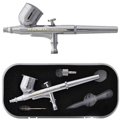Master Airbrush Multi-Purpose Gravity Feed Dual-Action Airbrush Kit with 0.3mm Nozzle