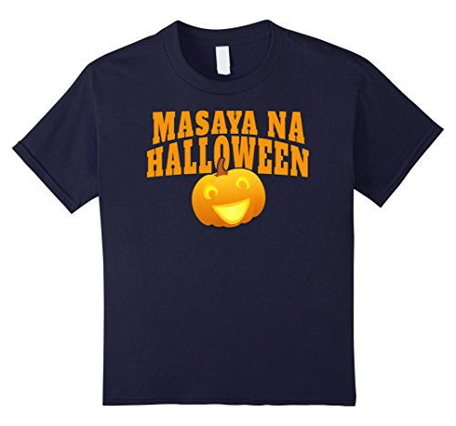 Kids Happy Halloween T-shirt Tagalog Shirt Filipino Women Men Kid 12 Navy