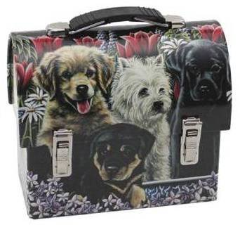 Howie's Hearts Puppy Lunch Box, Meadow Design (Liver Treats Included) Gift For Dog Lovers, My Pet Supplies