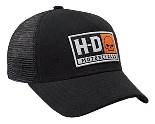 Harley-Davidson Mens Embroidered H-D Willie G Skull Baseball Cap, Black - Men D&g