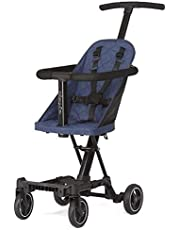 Dream On Me, Coast Stroller Rider, Lightweight, One hand easy fold, travel ready, Strudy, Adjustable handles, Soft-ride wheels, Easy to push, Navy