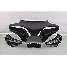 Liquor Motorcycle New For Harley Softail Road King FLST FLHR Yamaha V-star 1100 2000-2009 650 Classic 1998-2010 1999 2000 2001 2002 2003 2004 2005 2006 2007 2008 Black Front Batwing Fairing Bodywork Unpainted