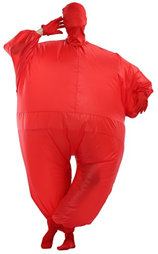 Goodsaleok Funny Fat Inflatable Full Body Costume Suit Blow Up Halloween Costume, Red