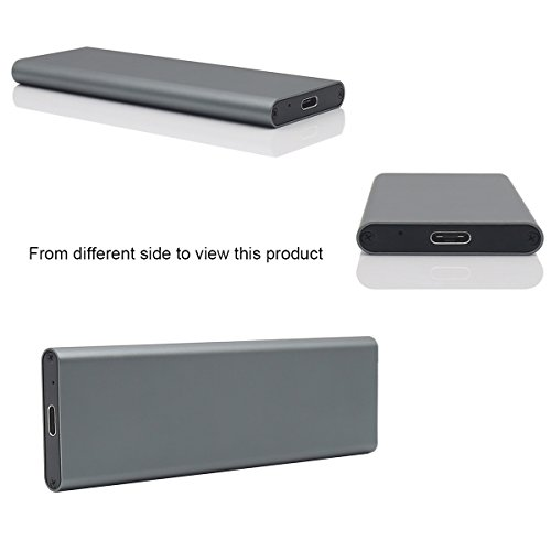 Aluminum M.2 NGFF to USB 3.1 M.2 SSD Enclosure External SSD Enclosure SATA Based M.2(Grey) by Generic (Image #6)
