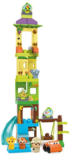 Mega Slide - Mega Bloks First Builders Swing & Slide Safari Building Set