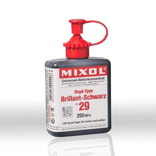 Mixol Nr.29 oxyd-brilliant-schwarz 200ml - Abtö nfarbe Pigment Abtö nkonzentrat